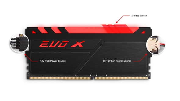 GeIL EVO X DDR4 RGB LEDs