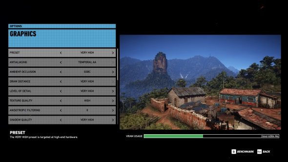 Ghost Recon Wildlands PC graphics menu GTX 1060
