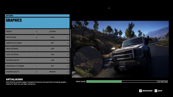 Ghost Recon Wildlands PC graphics menu R9 380