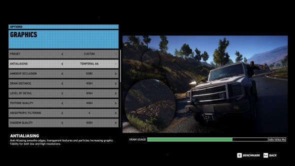 Ghost Recon Wildlands PC graphics menu RX 470