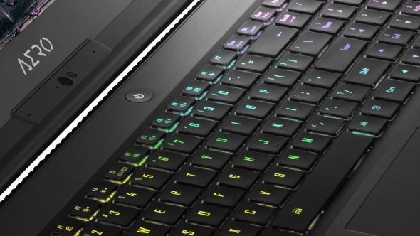 Gigabyte Aero 15W keyboard
