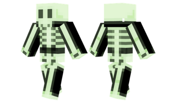 best minecraft skins Glowing Skeleton