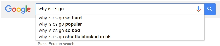 Google Autocomplete Counter-Strike