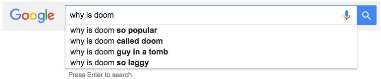 Google Autocomplete Doom