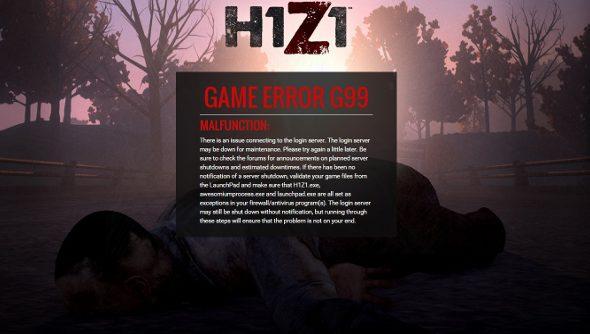 H1Z1 G99 error
