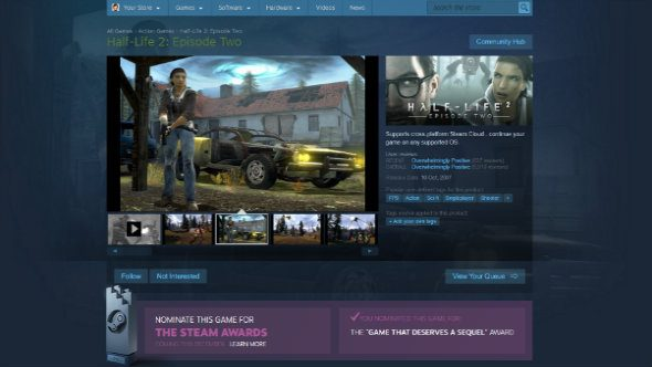 The Steam Awards see Half-Life 2: Episode 2 mass voted as