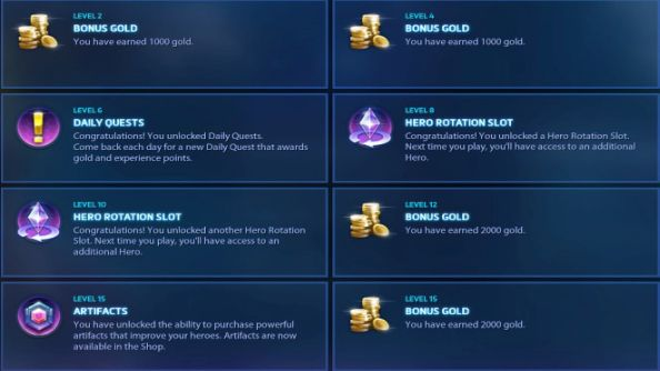 Heroes of the Storm Player Level System