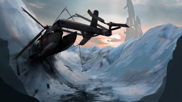 Half-Life 3 concept art crash