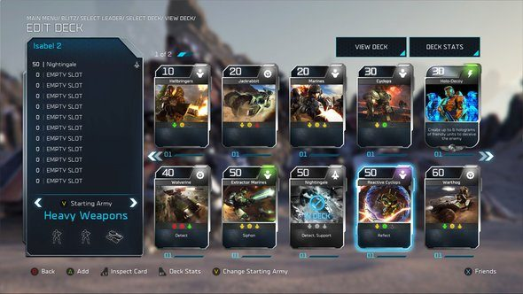 Halo Wars 2 Blitz Mode F2P Card Battling