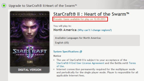 Heart of the Swarm set for March 12th release date in the US