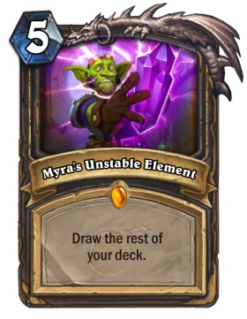 Hearthstone The Boomsday Project - Myra's Unstable Element