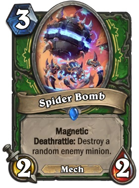Hearthstone The Boomsday Project - Spider Bomb