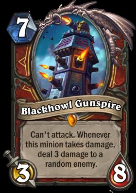 Hearthstone The Witchwood Blackhowl Gunspire