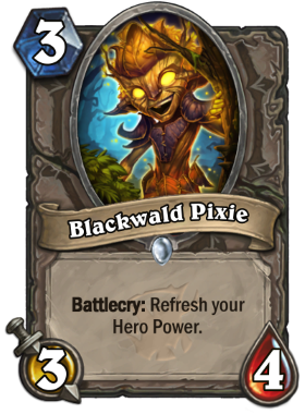 Hearthstone The Witchwood Blackwald Pixie
