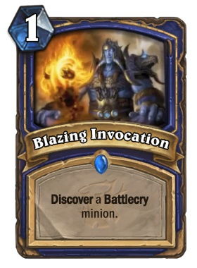 Hearthstone The Witchwood Blazing Invocation