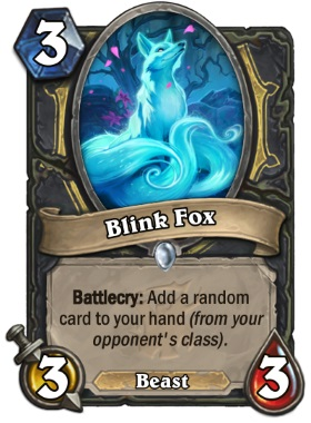 Hearthstone The Witchwood Blink Fox