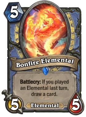 Hearthstone The Witchwood Bonfire Elemental