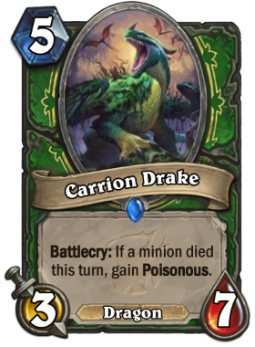 Hearthstone The Witchwood Carrion Drake