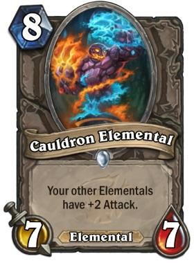 Hearthstone The Witchwood Cauldron Elemental