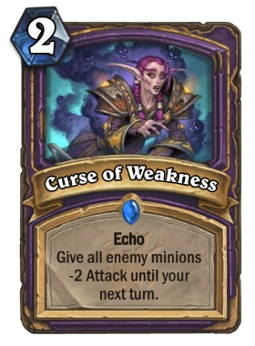 Hearthstone The Witchwood Curse of Weakness