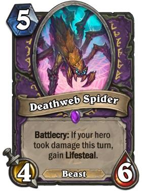 Hearthstone The Witchwood Deathweb Spider