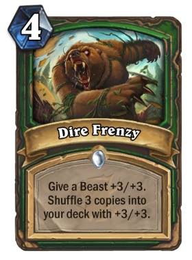 Hearthstone The Witchwood Dire Frenzy