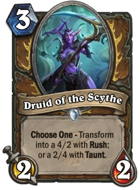 Hearthstone The Witchwood Druid of the Scythe