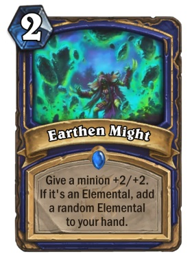 Hearthstone The Witchwood Earthen Might