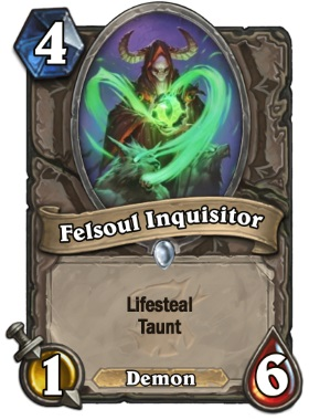 Hearthstone The Witchwood Felsoul Inquisitor