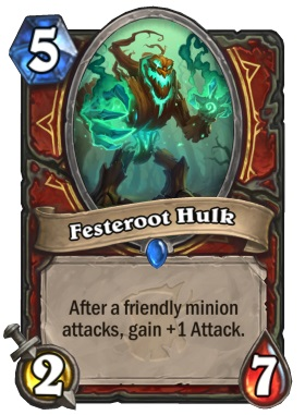 Hearthstone The Witchwood Festeroot Hulk