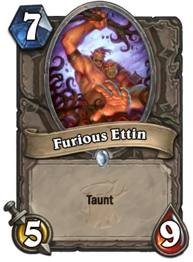 Hearthstone The Witchwood Furious Ettin