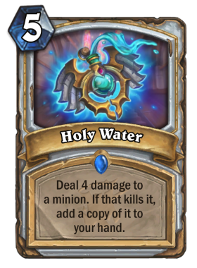 Hearthstone The Witchwood Holy Water