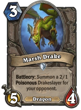 Hearthstone The Witchwood Marsh Drake