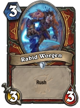 Hearthstone The Witchwood Rabid Worgen