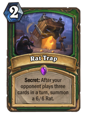 Hearthstone The Witchwood Rat Trap
