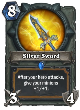 Hearthstone The Witchwood Silver Sword