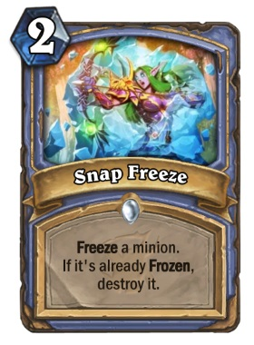 Hearthstone The Witchwood Snap Freeze