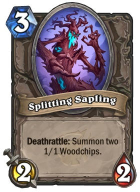 Hearthstone The Witchwood Splitting Sapling