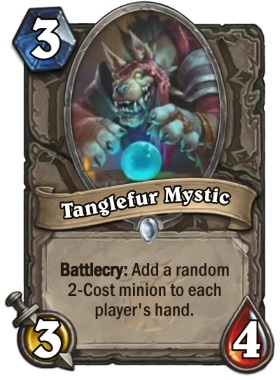 Hearthstone The Witchwood Tanglefur Mystic