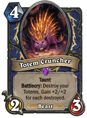 Hearthstone The Witchwood Totem Cruncher