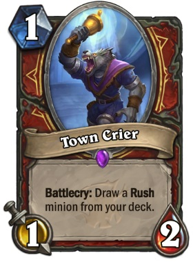 Hearthstone The Witchwood Town Crier