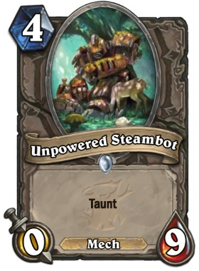 Hearthstone The Witchwood Unpowered Steambot