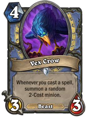 Hearthstone The Witchwood Vex Crow