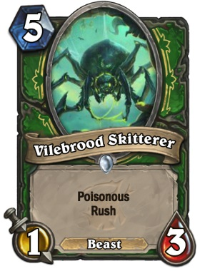 Hearthstone The Witchwood Vilebrood Skitterer