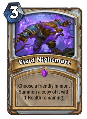 Hearthstone The Witchwood Vivid Nightmare