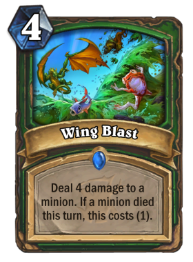 Hearthstone The Witchwood Wing Blast
