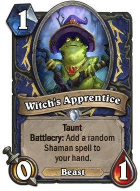 Hearthstone The Witchwood Witch's Apprentice
