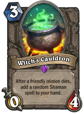 Hearthstone The Witchwood Witch's Cauldron