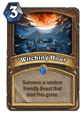 Hearthstone The Witchwood Witching Hour