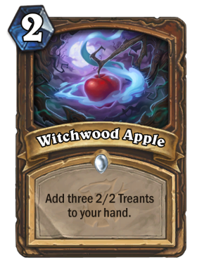 Hearthstone The Witchwood Witchwood Apple